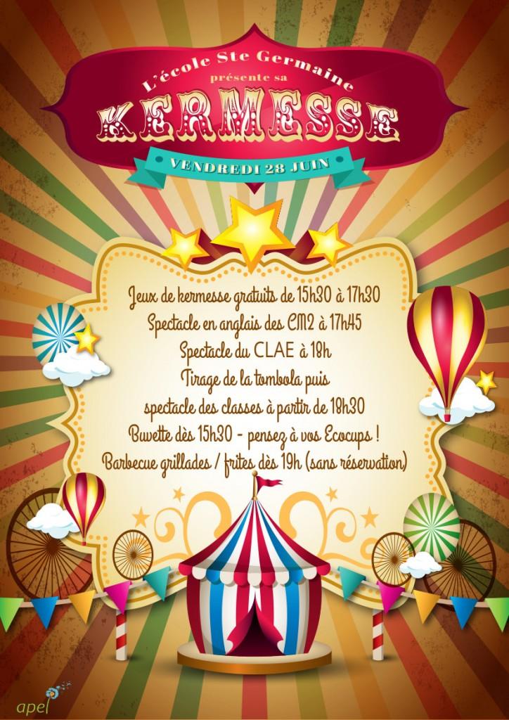 affiche kermesse Ste-Germaine 2019